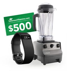 >> https://wn.nr/TR49D <<  One lucky grand prize winner will receive a Vitamix Professional Series 200, a Fitbit Charge HR & $500 in coupon codes to SwansonVitamins.com.  2nd place will receive $250 in coupon codes, 3rd place will receive $100 in coupon codes!