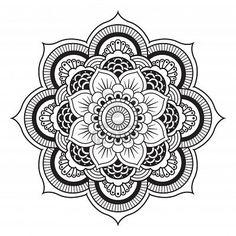 Mandala. Round Ornament Pattern Stock Photo