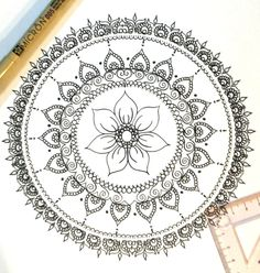 Flower Mandala, Printable Coloring Page