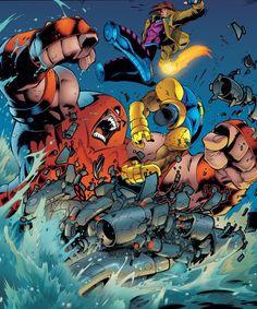Juggernaut vs. X-Men  by Joe Madureira