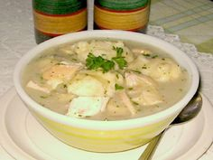 Old-Fashioned Chicken And Dumplings Recipe - Food.com - To make dairy-free change out butter for earth balance and milk for almond milk.