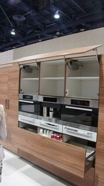 KBIS 2014 Bauformat German Kitchen Cabinets Manufacturer: Large Pantry  Units For Miele Coffee Machine, Microwave And Speed Oven. One Solid Panel  For Lift Up ...