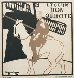 """In 1894, Scottish artist James Pryde teamed with English artist William Nicholson to create posters under the pseudonym """"the Beggarstaff Brothers"""" (a name they found on a torn sack of grain in an old stable yard). #affiche #poster"""