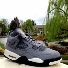 hot sale online bfb9d 8299d Air Jordan IV Cool Grey - shades of gray Nike Jordan4 karmaloop