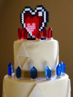 Legend of Zelda cake. Photo Credit: Kayla J. Photography/Wedding Planner: BreeAnn Gale of Pink Blossom Events