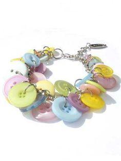 Knopenarmband in pastelkleuren van Per Elle Sieraden & Accessoires op DaWanda.com