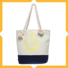 Vamos à la playa ☼ sur Lamodeuse.com #sacdeplage #beachbags #summerbags #anchor #itbags
