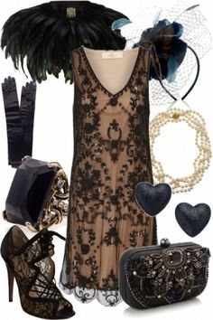 Gorgeous victorian style flapper - very Great Gatsby or Downton Abbey! Something they would wear in the Gatsby Outfit, Gatsby Dress, Great Gatsby Party Dress, 1920s Dress, Great Gatsby Fashion, Roaring 20s Fashion, 1920s Fashion Party, Roaring Twenties, 1950s Fashion