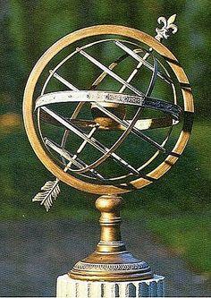 Fleur de Lis Garden Armillary Sphere