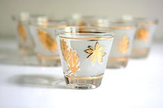 vintage shot glasses.  I don't drink shots but these are so pretty I want them anyway.