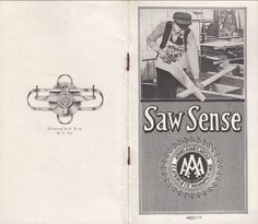 Saw Sense E C Atkins & Co Indianapolis IN Tools Saws Vintage Undated Booklet
