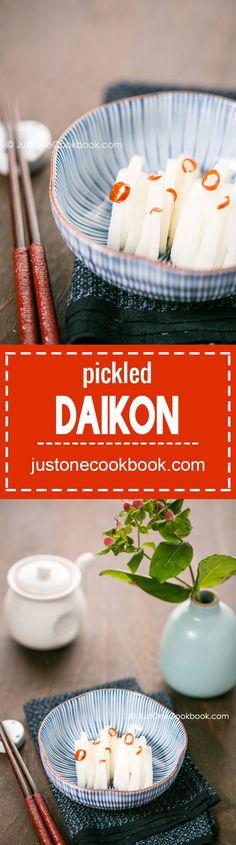 "Pickled Daikon (大根の漬物) | Easy Japanese Recipes at <a href="""" rel=""nofollow"" target=""_blank""></a>"