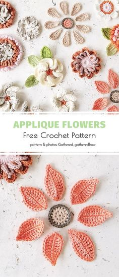 Crochet Mittens Free Pattern, Irish Crochet Patterns, Free Crochet, Butterfly Flowers, Butterflies, Flower Applique, Crochet Flowers, Jazz, Leaves