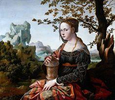 Jan van Scorel 1495 – 1562     Mary Magdalene     oil on panel (67 × 76 cm) — c. 1530 Rijksmuseum, Amsterdam     Jan van Scorel biography     This work is linked to Luke 8:2