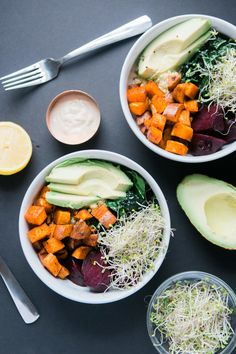 This Vegan Detox Glow Bowl is the perfect way to kick off a year of healthy eating and feel radiant from the inside out. Healthy Recipe Videos, Easy Dinner Recipes, Healthy Dinner Recipes, Healthy Snacks, Vegan Recipes, Healthy Eating, Vegan Lunches, Vegan Foods, Healthy Habits