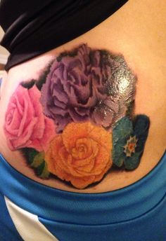 Chrysanthemum tattoo perfect i 39 d add a rose and a for Red carnation tattoo