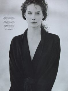 Christy Turlington by Peter Lindbergh for Harper's Bazaar US, May 1993