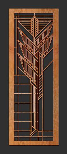 Frank Lloyd Wright Single Dana House Sumac Art Wall Panel