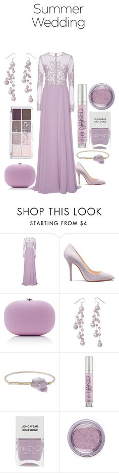 """""""Summer is here!"""" by mrudula-26 ❤ liked on Polyvore featuring Georges Hobeika, Jeffrey Levinson, NOVICA, Acne Studios, Urban Decay, Nails Inc. and Forever 21"""