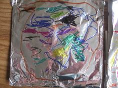 Sharpies on foil and other fun pre-school ideas. Sharpies on foil and other fun pre-school ideas. We could do with something more permanent for outd Eyfs Activities, Nursery Activities, Creative Activities, Writing Activities, Colour Activities, Winter Activities, Writing Area, Pre Writing, Sharpies