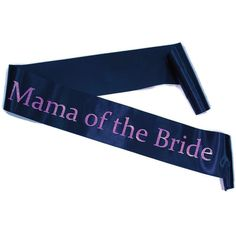 Satin Black W Pink Mama Of The Bride Sash