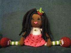 African American Strawberry Shortcake Crochet by LeenGreenBean