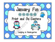 January Fun All Month Long from Ladybug in Kindergarten on TeachersNotebook.com -  (52 pages)  - January Fun All Month Long is a unit aligned with Common Core Standards for Math and Literacy.