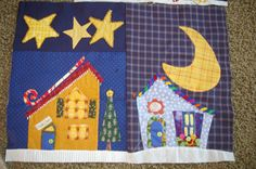 .Welcome to North Pole, Piece of Cake designs, quilt in progress by Carol Day.  LOVE the beading by Kim Hicken.