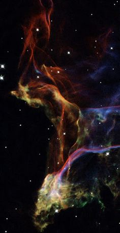 NASA's Hubble Space Telescope photographed three magnificent sections of the Veil Nebula -- the shattered remains of a supernova that exploded thousands of years ago. This series of images provides beautifully detailed views of the delicate, wispy structure resulting from this cosmic explosion. The Veil Nebula is one of the most spectacular supernova remnants in the sky. The entire shell spans about 3 degrees on the sky, corresponding to about 6 full moons.