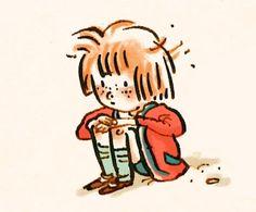 …Huddled little girl…