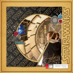 Disney Star Wars Use the Force digital scrapbook layout using Project Mouse (Galaxy): by Sahlin Studio