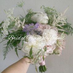 芍薬  スカビオサ ラベンダー    バラ