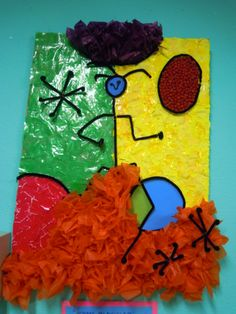 Realizado por los alumnos de 5 años Arts Ed, Joan Miro, Recycled Art, Art Plastique, Art Lessons, Primary Colors, Art For Kids, Recycling, Projects To Try