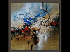 Abstract painting / Demonstration of Acrylic abstract painting with Palette Knife - YouTube