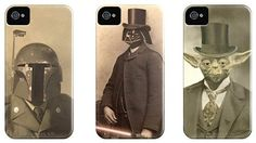 Victorian Star Wars Cases - in the Top 3 iPhone Cases for the Star Wars Geek Coque Iphone 4, Casual Steampunk, Victorian Portraits, Star Wars, Release Stress, Geek Gear, Geek Out, New Phones, Simple Things