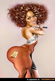 Caricatura de Beyoncé.