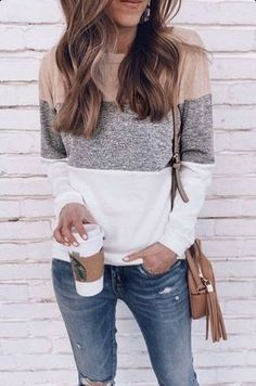Fashion Jeans, Fashion Casual, Fall Fashion Outfits, Womens Fashion, Fashion Blouses, Spring Fashion, Fashion Dresses, Cute Fall Outfits, Simple Outfits