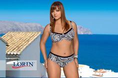Strój kąpielowy Barbados 6259: Modne połączenie czerni i bieli, orientalne wzory, wygoda i styl dla każdej pani. Lorin 2015