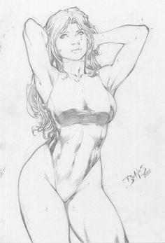 She-Hulk by Ed Benes Comic Art