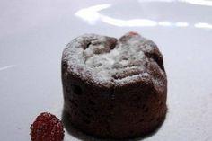 Receta de Coulant de chocolate en microondas