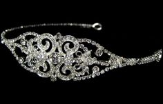 Antonia - Gorgeous vintage inspired headpiece - I think this design mirrors the earrings I pinned.