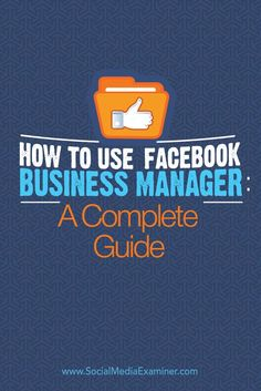 Are you familiar with the Facebook Business Manager? Whether you oversee one or many Facebook pages, Facebook Business Manager puts everything you need in one central place. In this article you'll discover how to use Business Manager to securely manage pages, admins, ad accounts and more. Via @SMExaminer