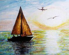 И снова море)))#рисунок #живопись #масляныекраски #oilpainting #краскикисточки #холст #oil #мастихин #масло #художествамои #художества #моихудожества