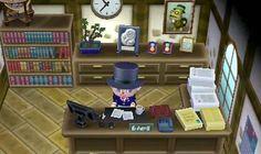 Und hier mit dem Zylinder das ist der Bürgermeister von Animal Crossing New Leaf.<3