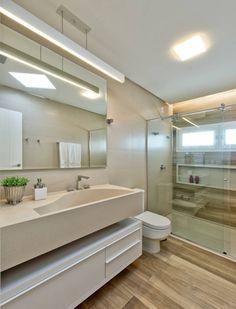 Banheiro de hóspedes (De Espaço do Traço arquitetura)