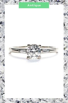 The 5 New Engagement-Ring Trends Every Cool Bride Should See #refinery29  http://www.refinery29.com/new-engagement-ring-trends#slide-24  This 0.71-carat brilliant-cut sparkler is sandwiched between two flush-set, baguette-cut diamonds that blend into the white-gold band for a subtle finish. ...