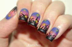 ErinZi's Nails: Fireflies in the Field at Sunset inspired by Chalkboard Nails How To Do Nails, Fun Nails, Chalkboard Nails, Fireflies, All Things Beauty, Manicures, Olympics, Nailart, Nail Designs