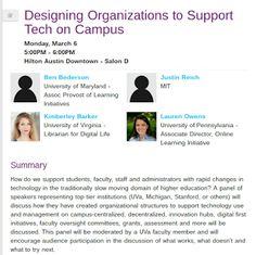 EdTechSandyK: Designing Organizations to Support Tech on Campus #SXSWedu