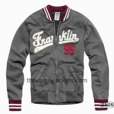 Cheap FM Men\'s Coats Number 99 Grey Varsity Jackets On Sale