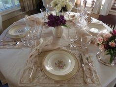 Downton Abbey Table Setting | Thank you for visiting and have a wonderful week.